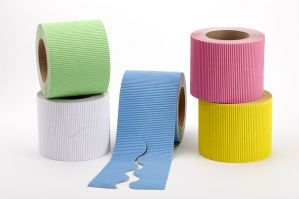 Cool Pack Cardboard Corrugated Border Roll Scalloped Edge - 5 Rolls